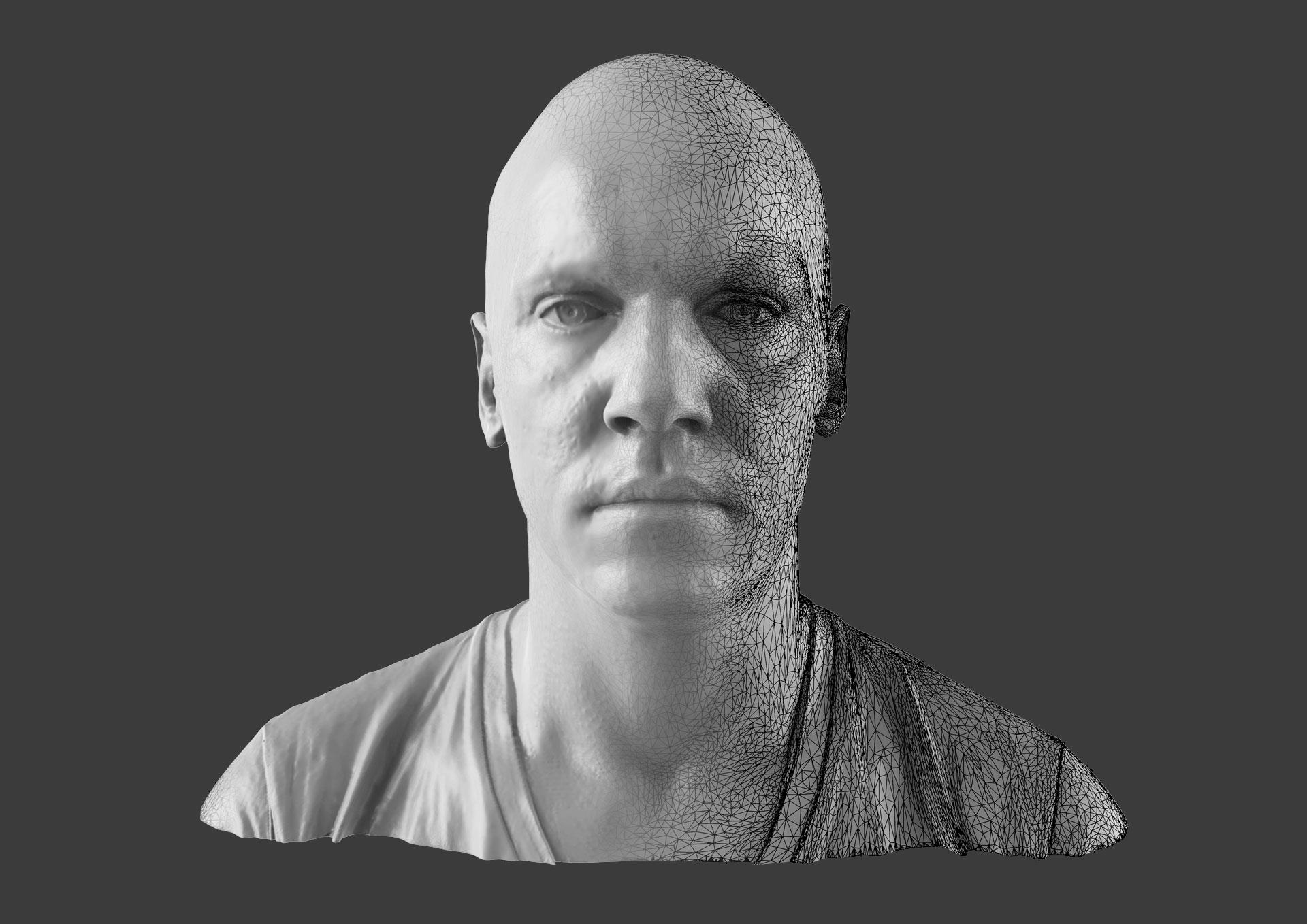 3D Scanning Ireland Dublin Scanned Bust