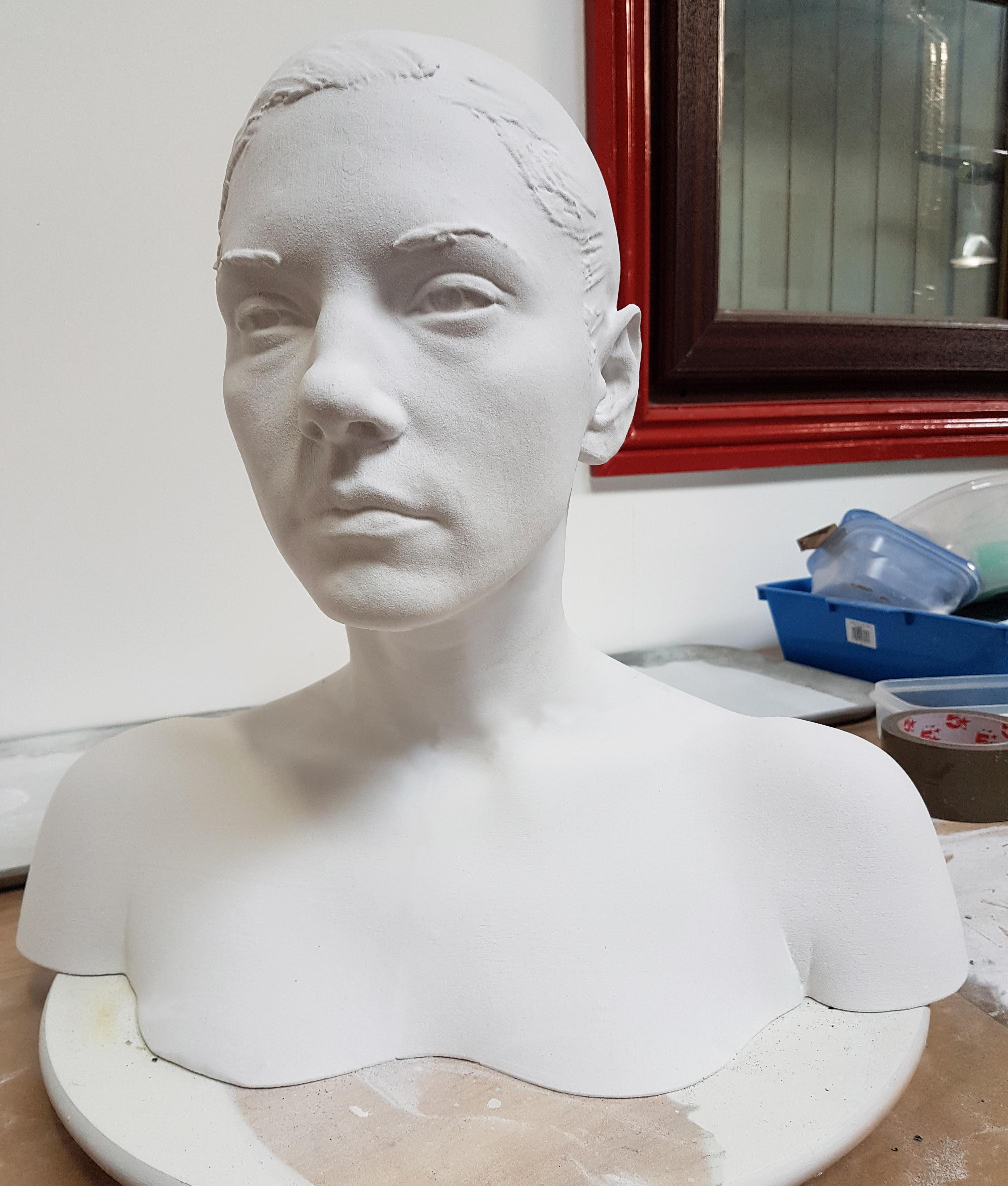3D Scanning Ireland Dublin 3D Printed Bust